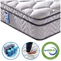 Vesgantti 4FT6 Double Mattress, 10.3 Inch Pocket Sprung Mattress Double