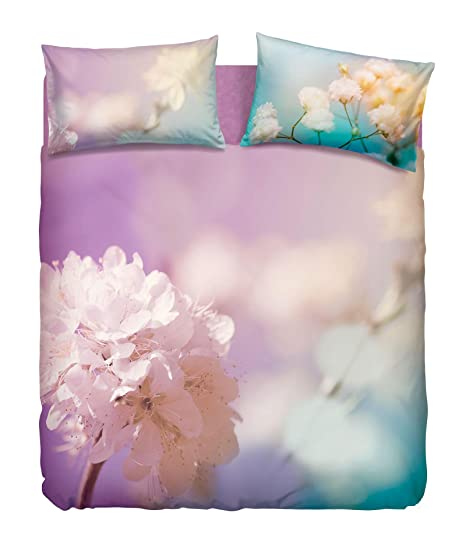 570b377494 Bassetti Completo Copripiumino Lady Flower Matrimoniale Stampa Digitale  Floreale Imagine (Sacco Copripiumino 250x200 + cm