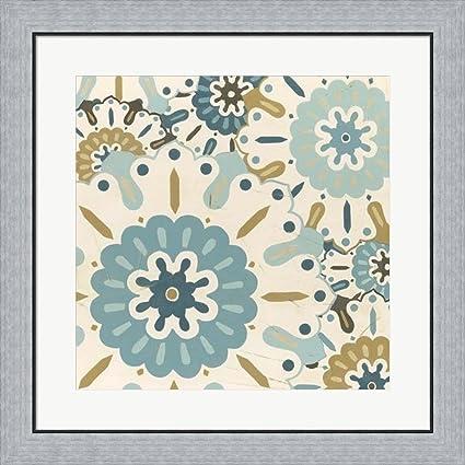 Amazon.com: Blue Lace III by June Erica Vess Framed Art Print Wall ...