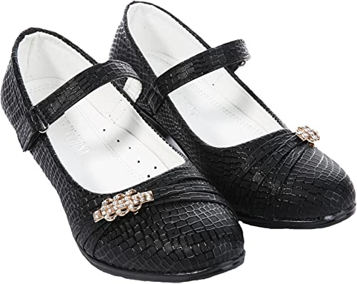 Girls Party Shoes Kids Low Heel Mary