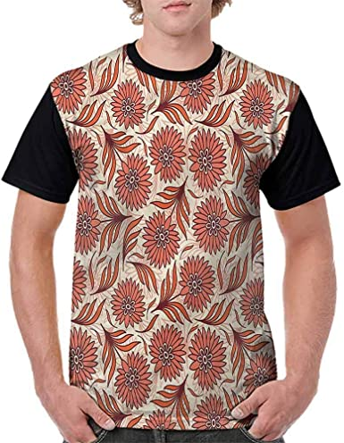 BlountDecor Casual Short Sleeve Graphic Tee Shirts,Mosaic Trippy Vivid Fashion Personality Customization
