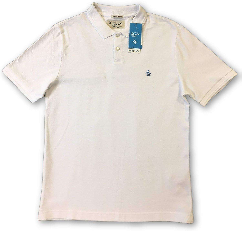 ORIGINAL PENGUIN Winston Slim fit Polo in White - M: Amazon.es ...