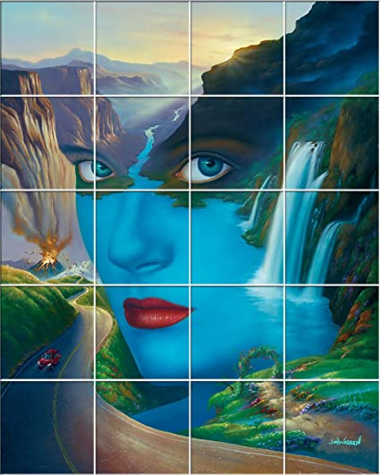 Mother Nature UV Ceramic Tile Mural X Jim Warren Fine Art - Ceramic tile murals for outdoors