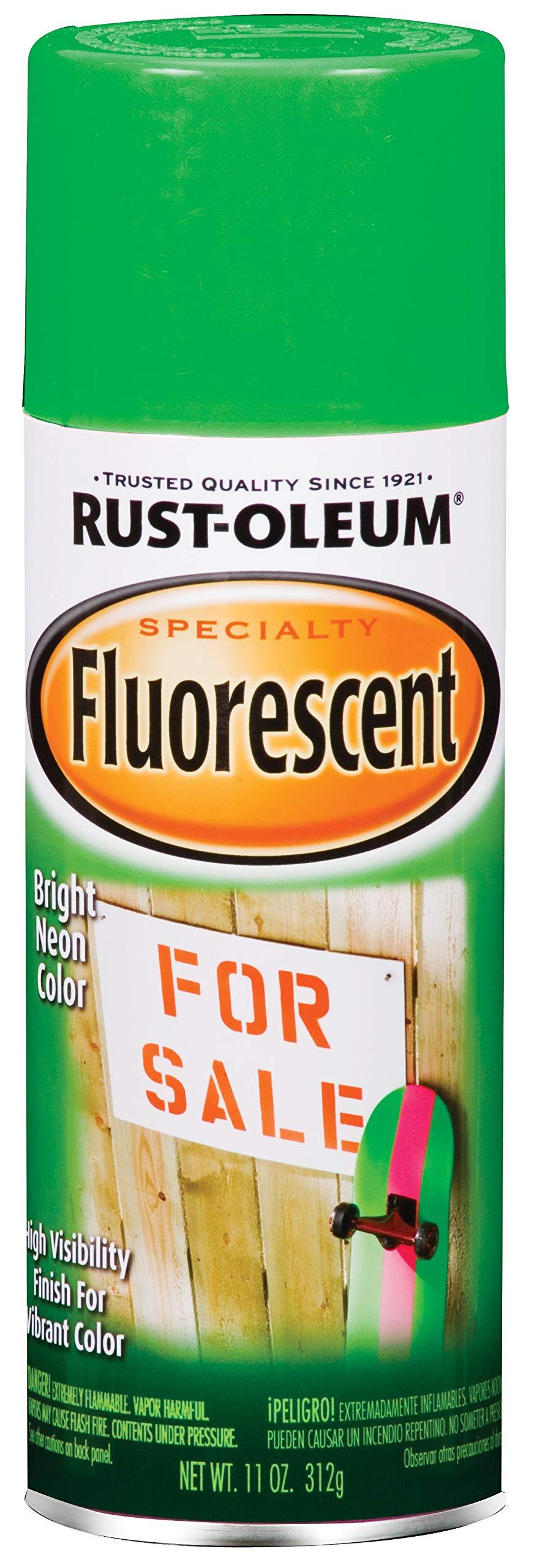 Rust-Oleum 1932830 Specialty Fluorescent Spray Paint, 11-Ounce, Green
