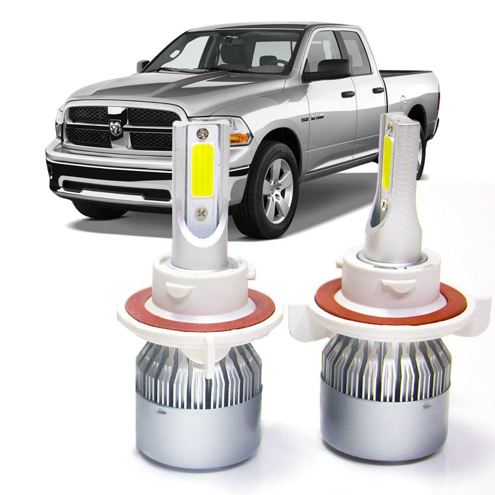Amazon.com: H13 LED Headlight Bulbs for Dodge Ram 1500 2500 3500 2006-2012 High Low Beam Kit: Automotive