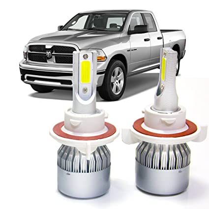 Amazon.com: H13 LED Headlight Bulbs for Dodge Ram 1500 2500 3500 2006-2012 High Low Beam Kit: Automotive