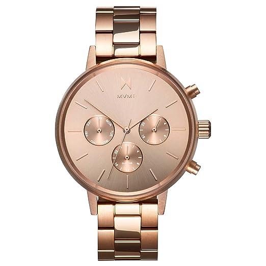 mvmt Nova Leo Oro Rosa Acero Inoxidable Mujer Reloj De Pulsera: Amazon.es: Relojes