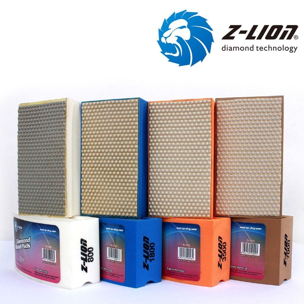 More buying choices for Z-Lion Diamond Hand Polishing Pads Arc Shape Back for Glass Stone - Pack of 8 Pcs by Z-LION (Image #5)
