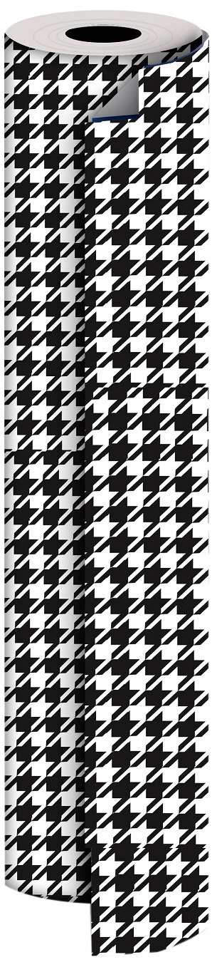 Jillson Roberts Bulk 1/4 Ream Gift Wrap Available in 11 Different Designs, 30'' x 208', Houndstooth