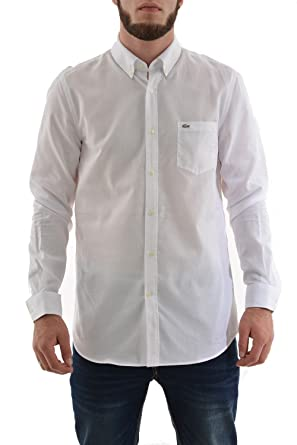 Lacoste Chemise Casual Homme Blanc (Blanc) FR : 43