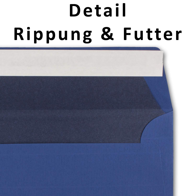 150 Brief-Umschläge DIN Lang - Dunkel-Grün - - - gefüttert mit weißem Seiden-Papier 110 g m² - 110 x220 mm - Haftklebung - Qualitätsmarke  NEUSER FarbenFroh B0765YDX8V | Bekannt für seine schöne Qualität  eade72