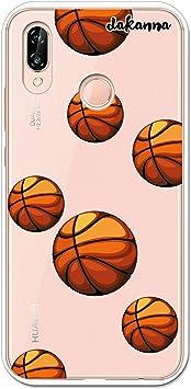 dakanna Funda para Huawei P20 Lite | Patrón Balón de Baloncesto ...