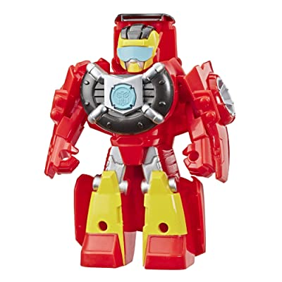 "Transformers Playskool Heroes Rescue Bots Academy Hot Shot Converting Toy Robot, 4.5"" Action Figure, Toys for Kids Ages 3 & Up: Toys & Games"