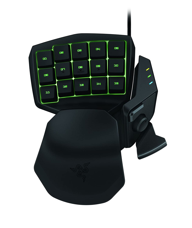Razer Tartarus Chroma Expert Rgb Gaming Keypad 25 Programmable Keys Naga Hex Mmo 2014 Hexagram V2 Free Mouse Pad Including An 8 Way Thumb Computers Accessories