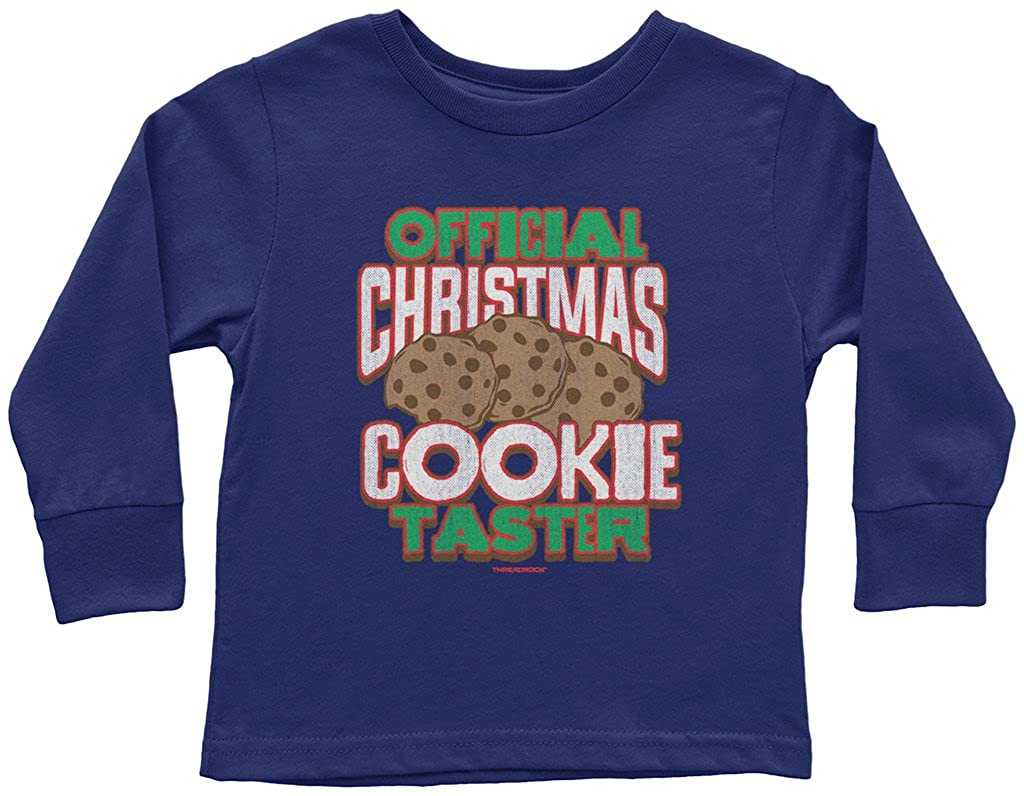 Threadrock Little Boys Official Christmas Cookie Taster Toddler L//S T-Shirt