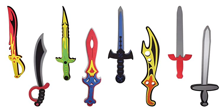 Foam Swords 8 Pack Weapons Toy Set for Kids + 8 Unique Ninja Pirate Warrior  Viking 9c43b7d529b66