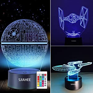 3D Star Wars Lamp - Star Wars Gifts - Star Wars Light - Star Wars Lamp& Perfect Gifts for Kids and Star Wars Fans(3 pcs)