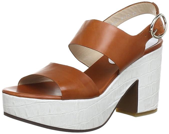 C. Doux NA 6407 - Sandalias de vestir de cuero para mujer, color beige, talla 40