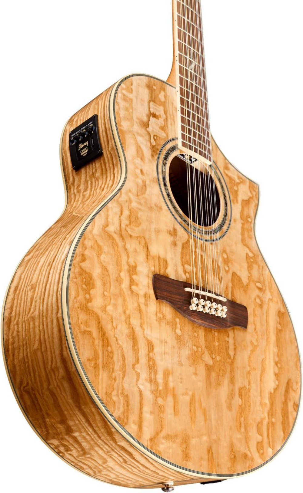 ibanez exotic wood series ew2012asent 12 string acoustic electric guitar guitar affinity. Black Bedroom Furniture Sets. Home Design Ideas