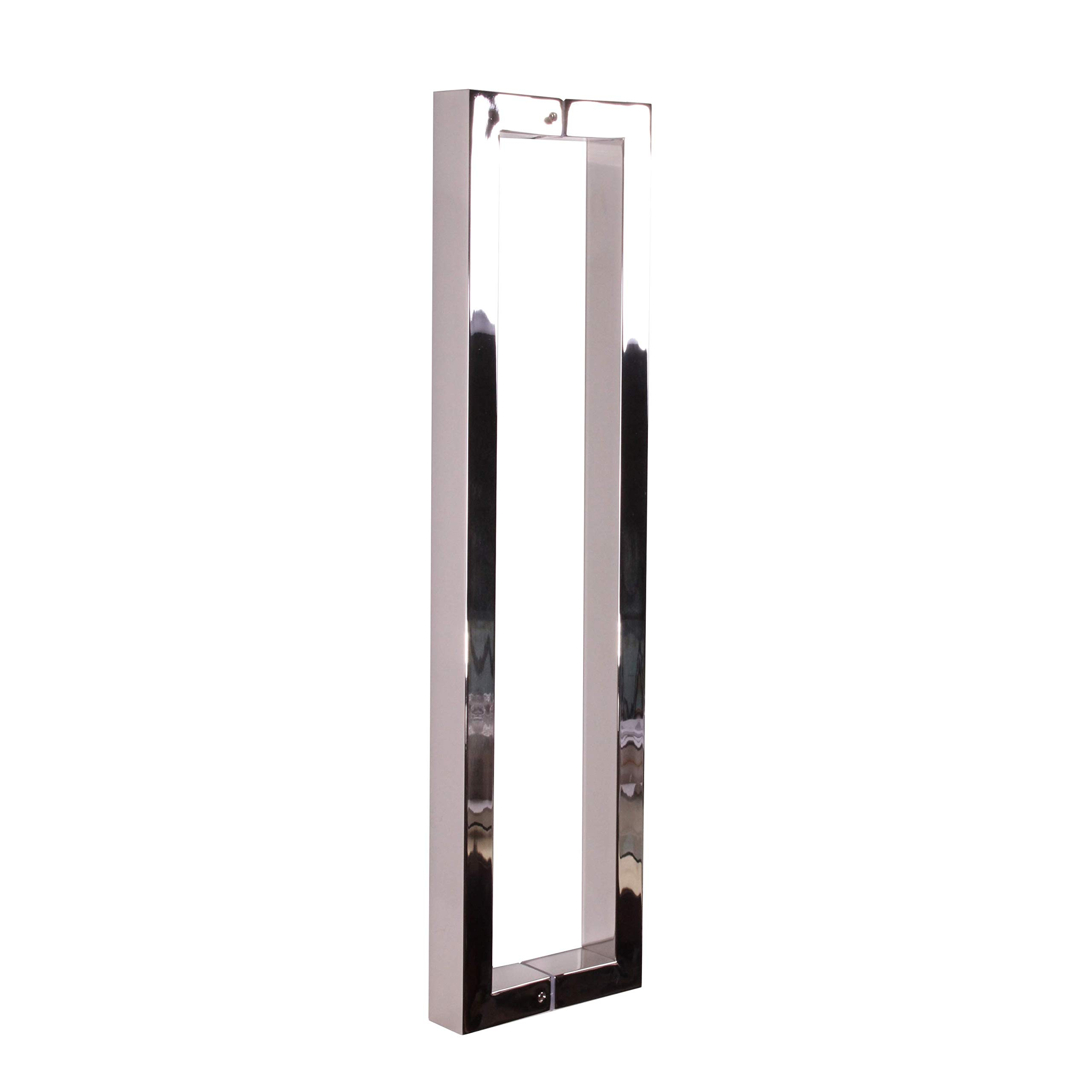 Pull Push 16 inches Handles for Entrance Entry Front Door, Interior and Exterior, Mirror Finish, Storefront Door, Commercial Entry Gate and Office Door, Modern and Decent Design Rectangle Style.