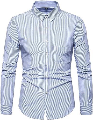 Camisas Hombre, Moda Hombre Impreso Camisas de Manga Larga Slim Tops Blusa Camiseta Slim fit Business Casual Camisas de Vestir Formales: Amazon.es: Ropa y accesorios