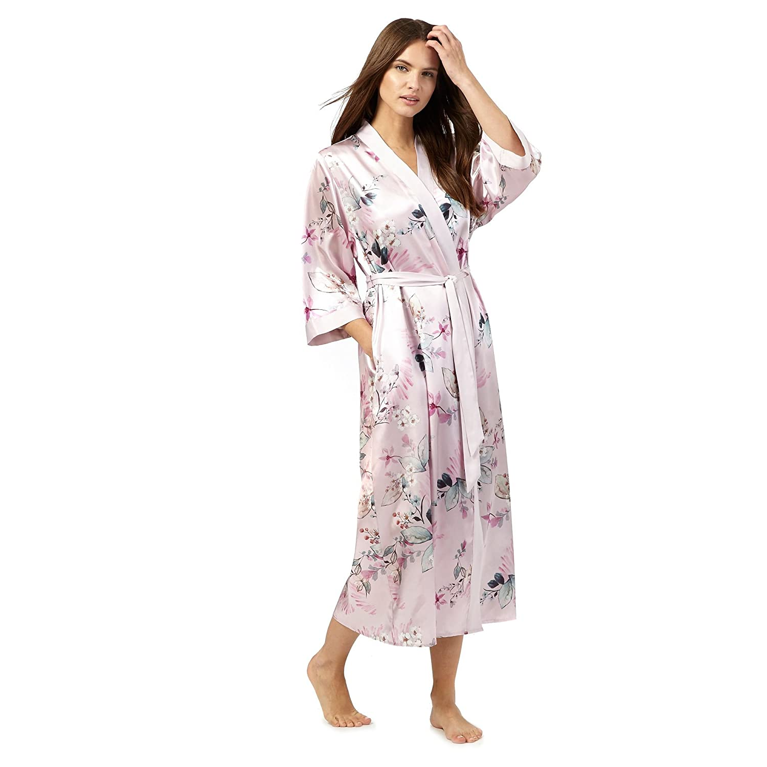 The Collection Womens Pink Floral Print Satin Wrap