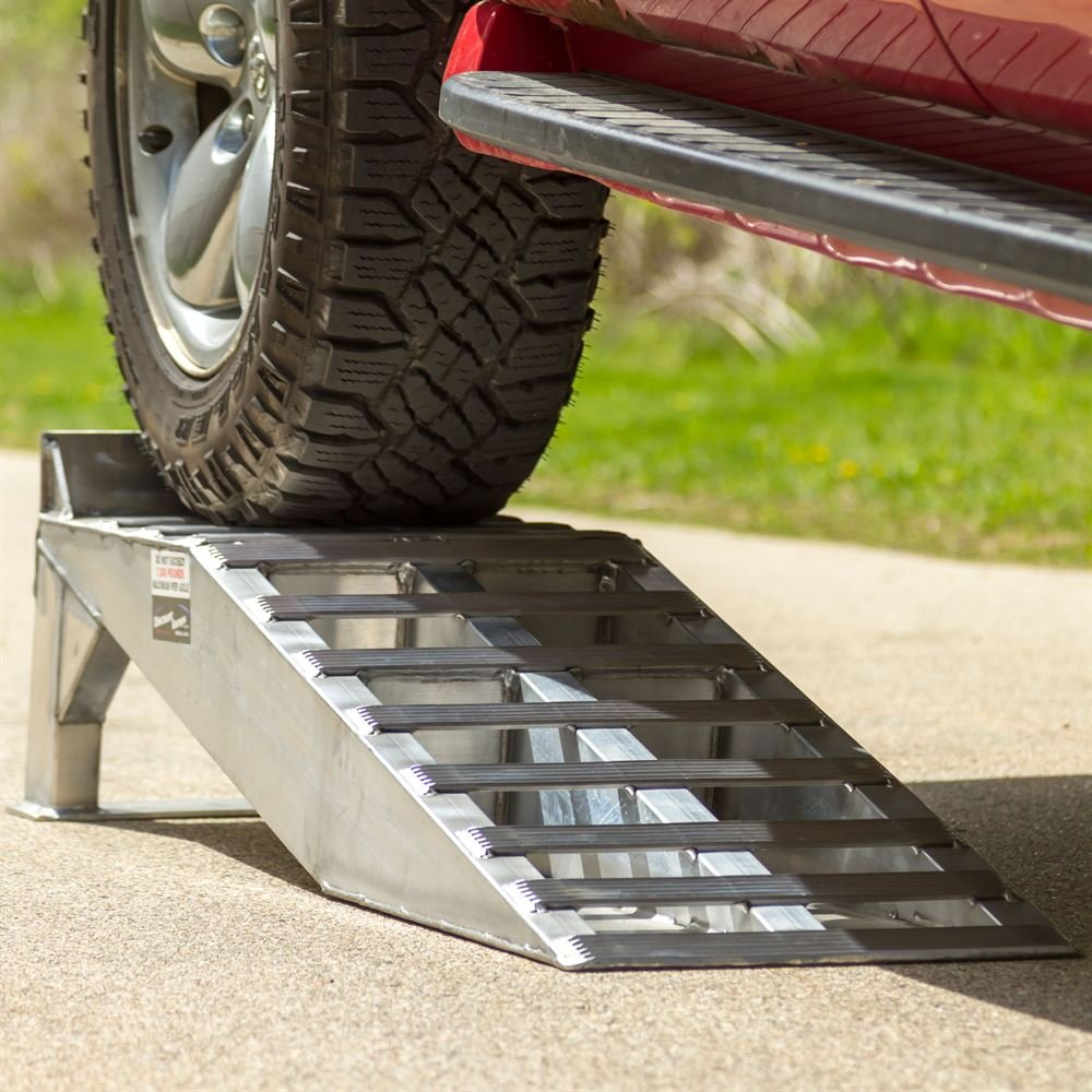 Pair of Aluminum Pickup Truck Wheel Riser Service Ramps by Rage Powersports (Image #2)