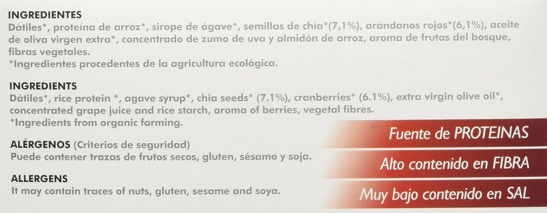 beVegan Protein Bars Arándanos y Chía - 220 gr: Amazon.es: Alimentación y bebidas