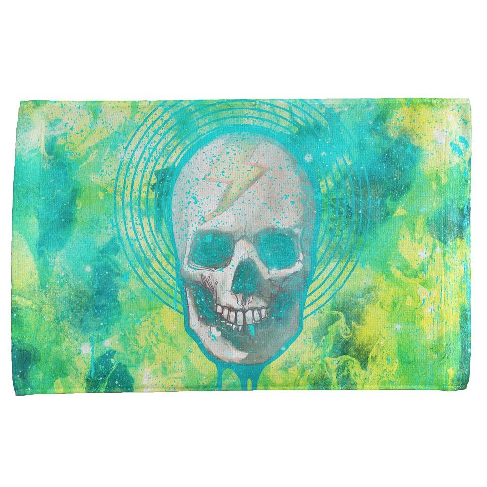Amazon.com: Halloween Lightning Bolt Skull Distressed Plasma All ...