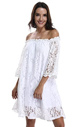 White Lace Casual Wear