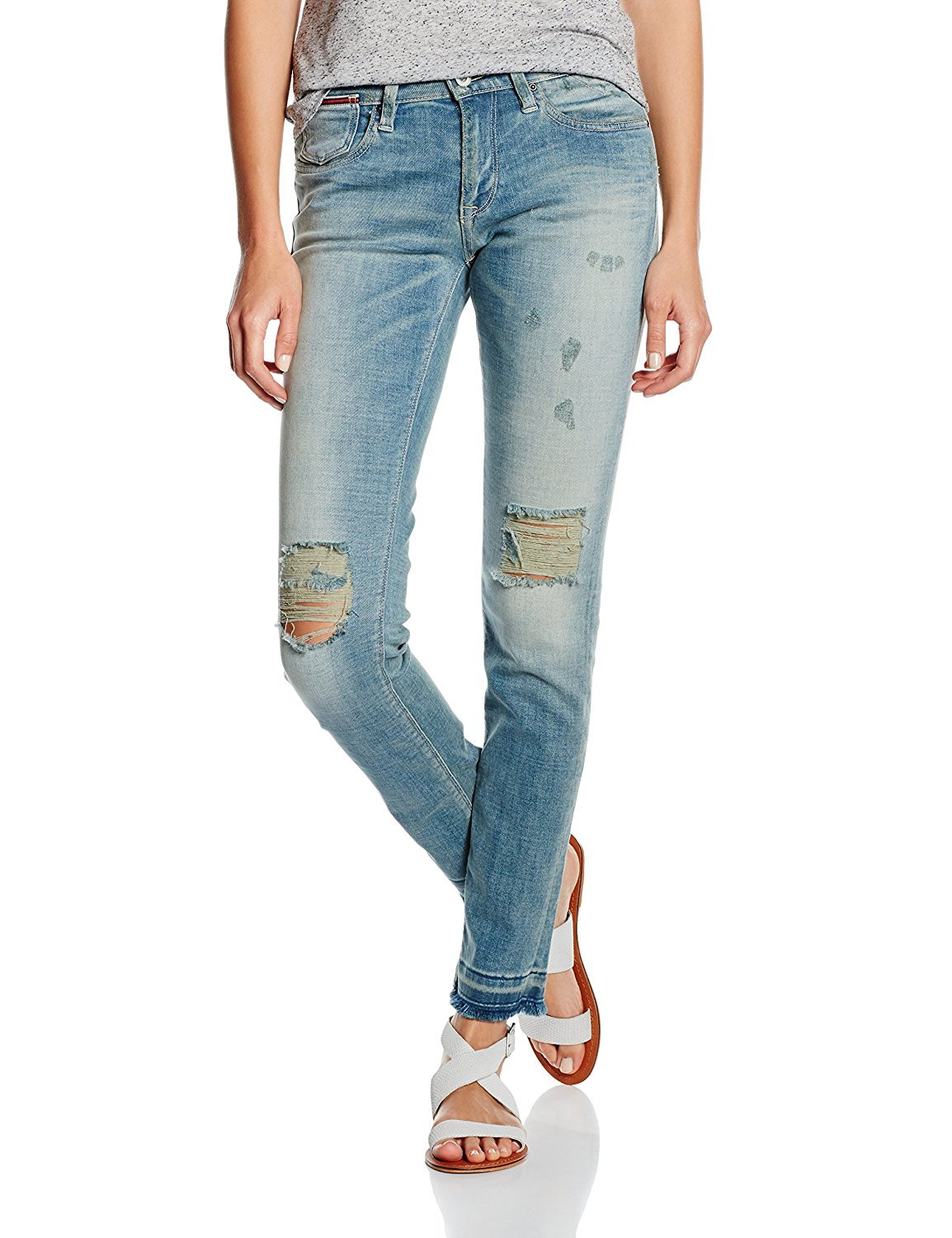 Hilfiger Denim Women's Mid Rise Slim Naomi Jean (28 x 32, Blue Wash)
