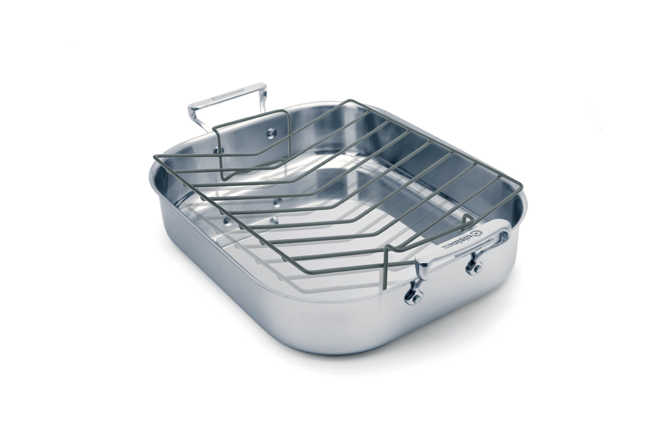 Cuisinox POT-342RLG Elite Open Roaster Pan with Rack, 42 by 35 by 8.5cm