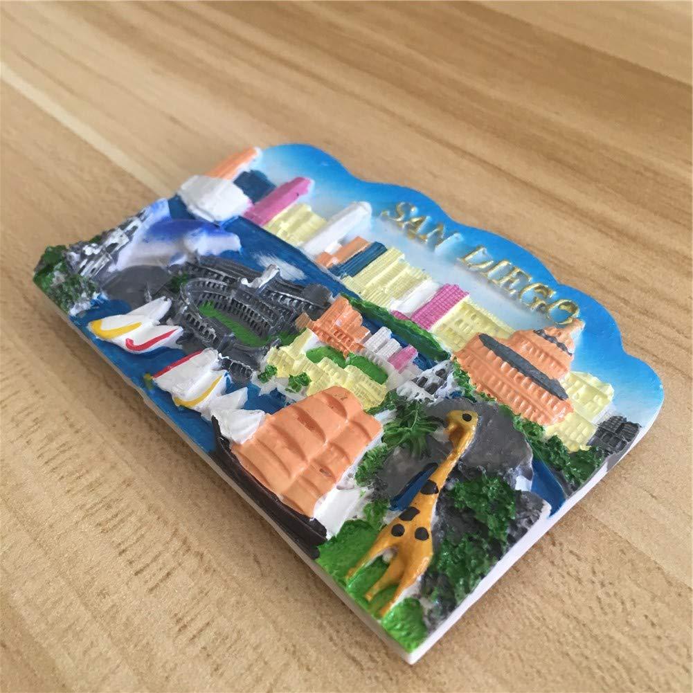Amazon.com: Imán para nevera de resina de la ciudad del ...