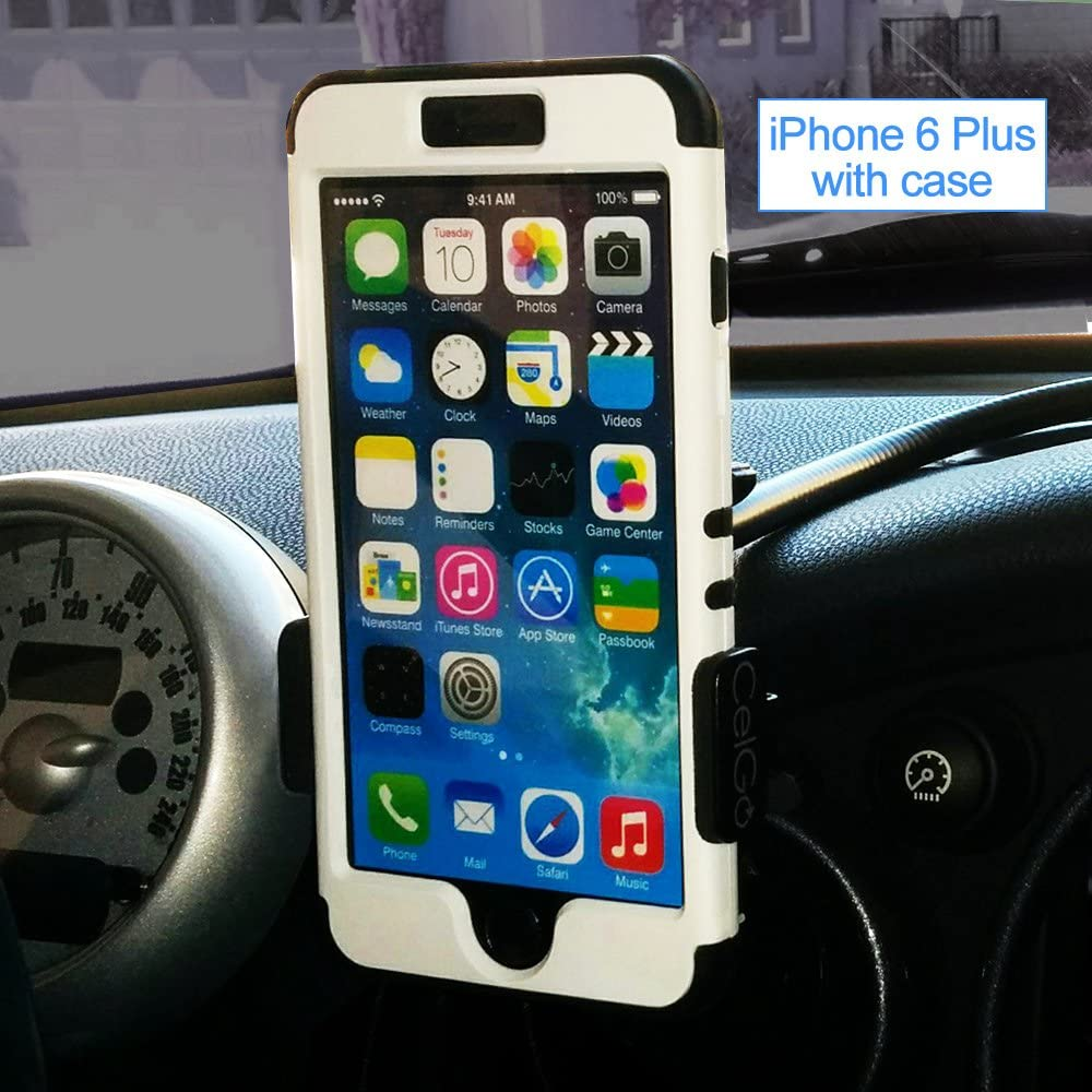 Plus Android Phones All Phones Galaxy Note All Models CelGo Ultimate Cell Phone Car Holder Mount for All iPhone X // 8//8+ // 7//7+ // 6//6+ // 5//4 // 3 // Samsung Galaxy All Models