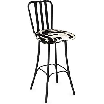 Amazon Com Amisco Club Swivel Metal Counter Stool In