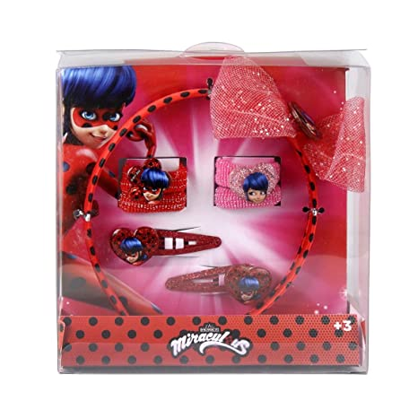 Made in Trade Set Accessoires pour Cheveux Lady Bug Miraculous, 2500000819