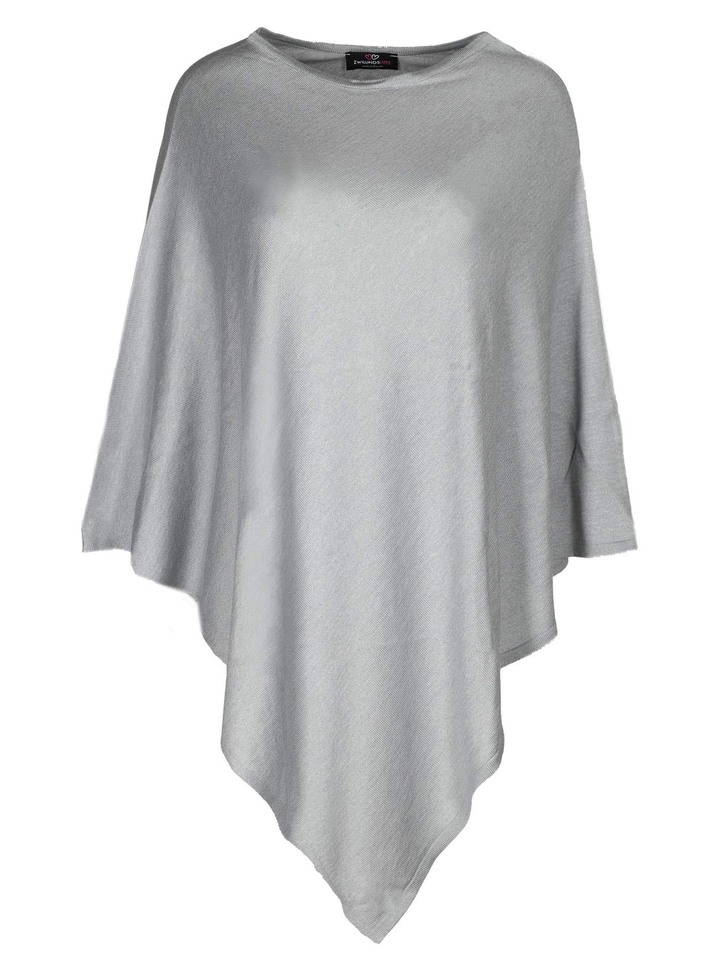 132bb0f243aec5 Cashmere Dreams Poncho-Schal aus Baumwolle - Hochwertiges Cape für Damen -  XXL Umhängetuch und