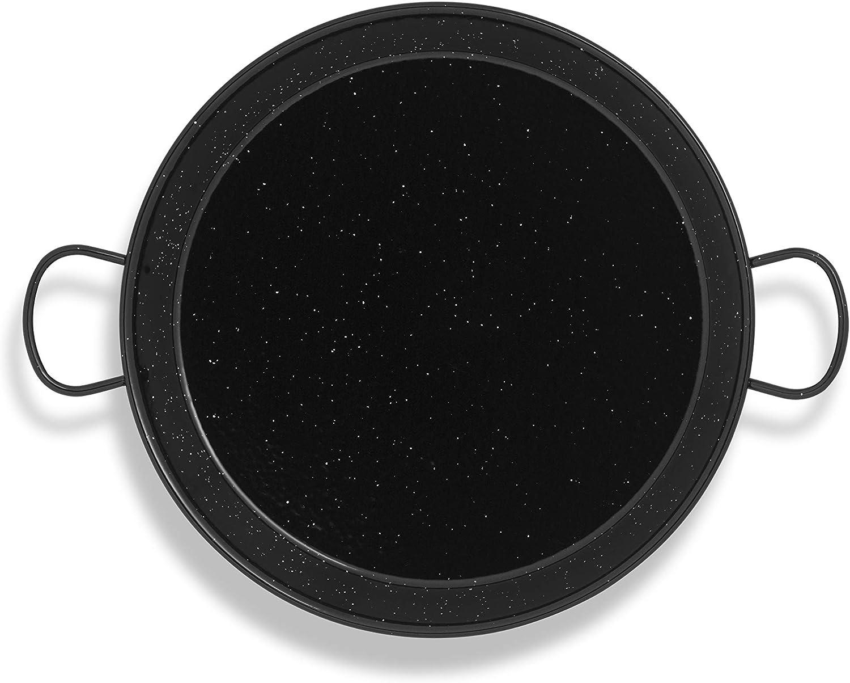 Metaltex 7398170000 Paellera de acero esmaltado, Negro, 34 cm