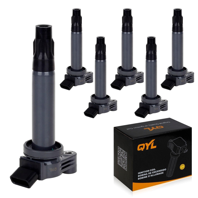 QYLPack of 6 Ignition Coil for 04 05 06 07 08 09 10 Toyota Lexus Camry Solara Sienna Highlander ES330 RX330 3.3L V6 C430 UF430 C1452 UF-430