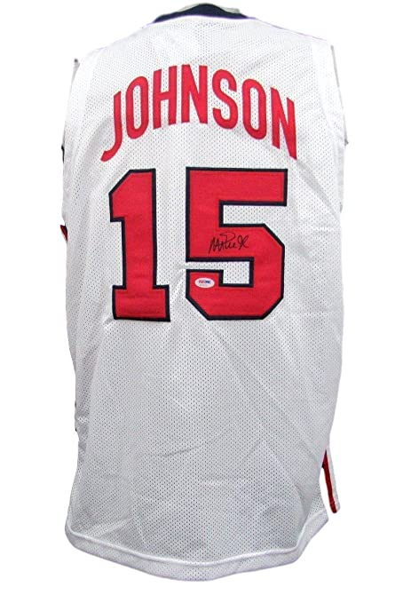 ebf01f5cb Autographed Magic Johnson Jersey - Team USA White 135673 - PSA DNA Certified  - Autographed