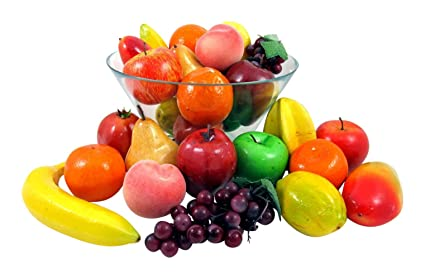 Set of 26 Realistic Artificial Fruits Play Food Set by ...
