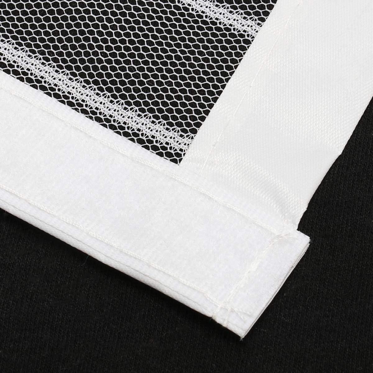 Moustiquaire rideau de porte moustiquaire magn/étique blanc