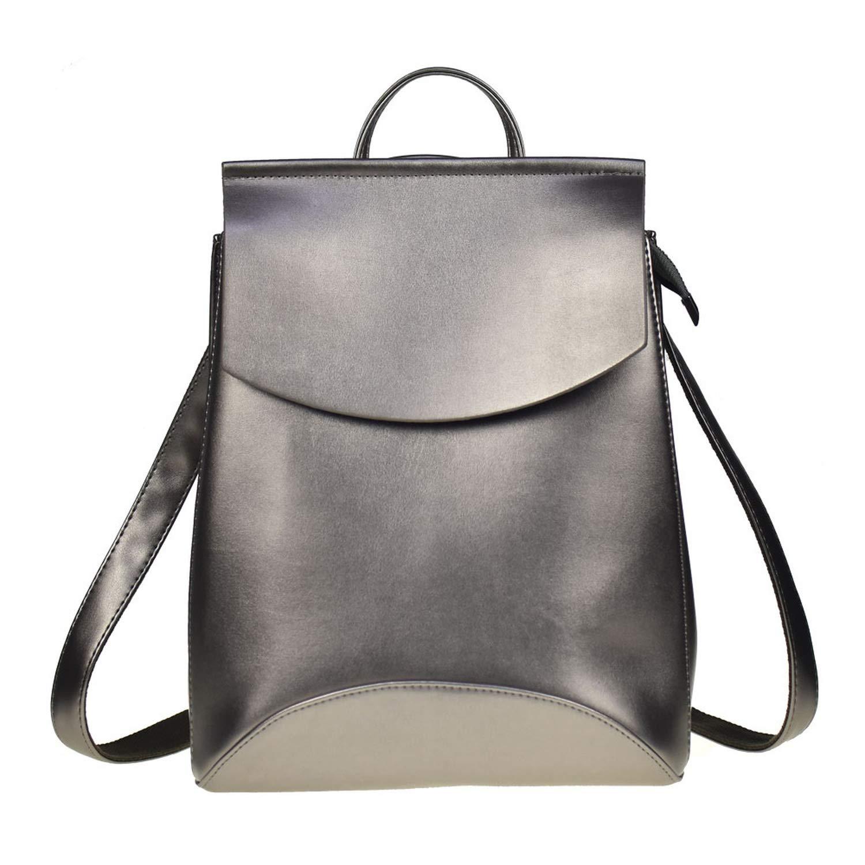 Fashion Women Backpack PU Leather Backpacks for Teenage Girls Female School Shoulder Bag Bagpack mochila,Silver
