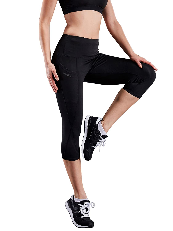 Neleus PANTS レディース B07CSR14JJ Large /USA 10-12|9027 Yoga Capris Pack of 1:black 9027 Yoga Capris Pack of 1:black Large /USA 10-12