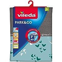 Vileda – Housse de table à repasser Park&Go – Housse de repassage pour toutes les tailles de planches – Avec zone «parking» pour le fer résistante à la chaleur