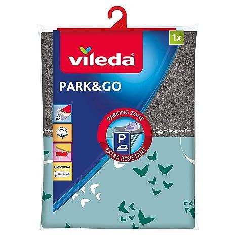 Vileda Park & Go - Funda de planchar, funda con zona parking, forro metalizado