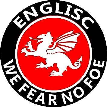 "White Dragon of the English ENGLAND CAR STICKER ENGLISC /""FEAR NO FOE/"""