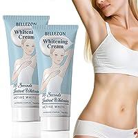 SAISZE 2 Pack Whitening Cream, Moisturizes and Effective for Knees, Armpit, Sensitive...