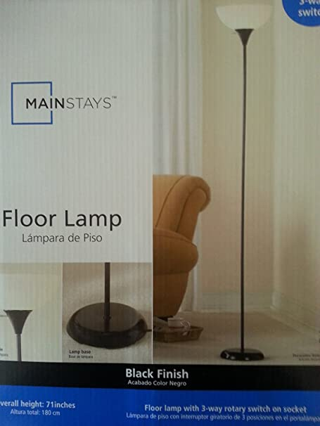 Mainstays 71 Floor Lamp, Silver (1) - - Amazon.com