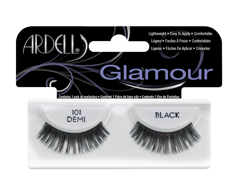 90b5ddbd30c Amazon.com : Ardell Fashion Lashes Pair - 101 Demi Black (Pack of 4) : Fake  Eyelashes And Adhesives : Beauty
